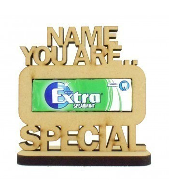 6mm Personalised 'You Are Extra Special' Chewing Gum Holder on a Stand
